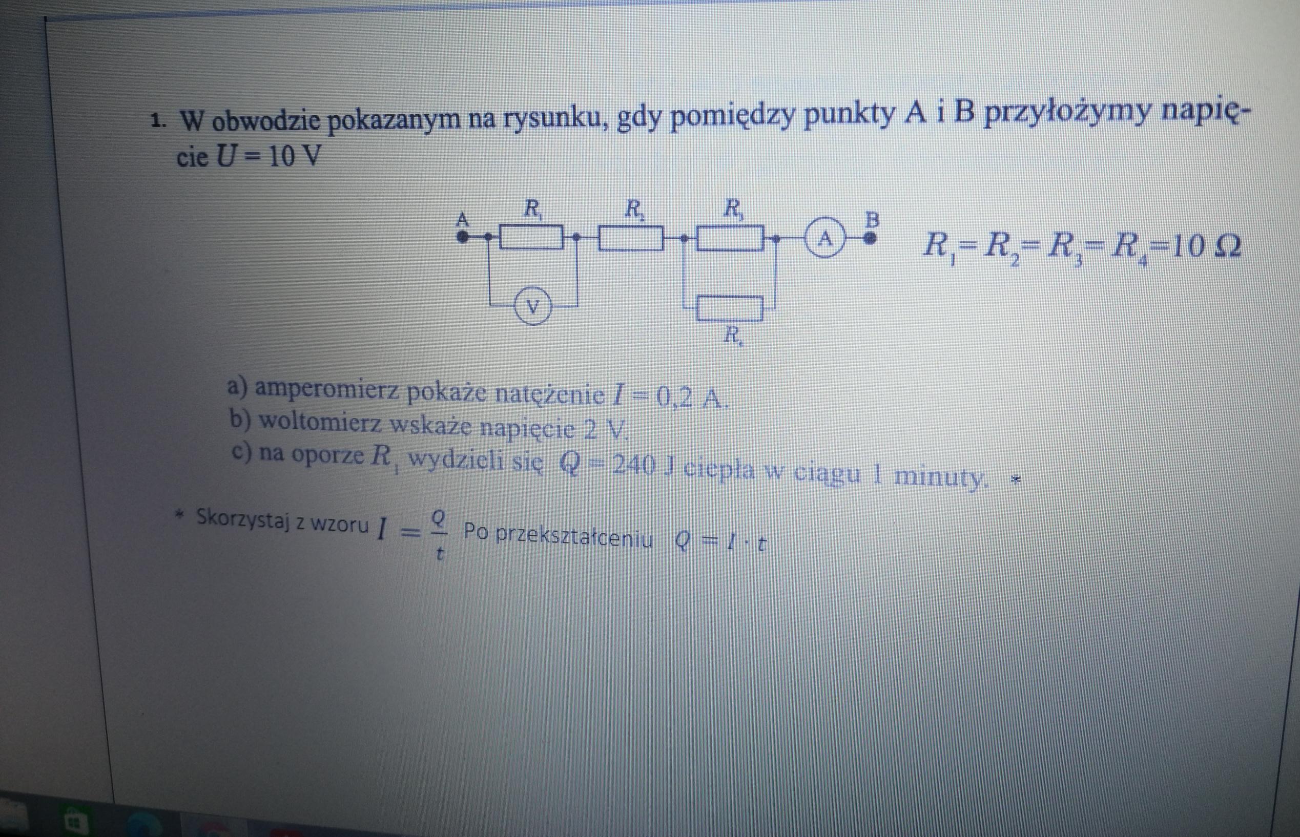 Liceum • Fizyką zadanie